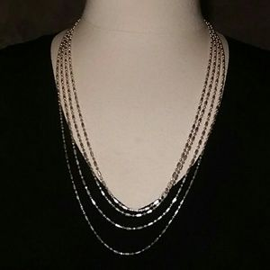 "100"" Sterling Silver Ball-Bar Chain Necklace"